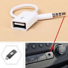 3.5mm Maschio AUX Audio Plug Jack a USB 2.0 FEMMINA CONVERTITORE CAVO FUNIVIA mp3 UK