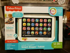 NEW Fisher-Price Laugh + Learn Smart Stages Tablet Light-up Learning Fun A-Z