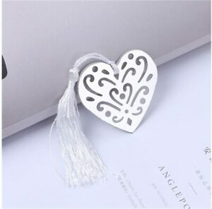 12 segnalibro cuore con fiocco scatola bomboniera regalo scuola libreria regalo