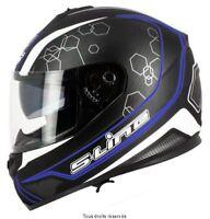 Casque Moto / Scooter Intégral S-Line S440 double visière noir bleu taille M