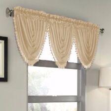 Luxury Waterfall Faux Silk Decorative Trim Window Valance 10 Colors