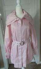 NWT Laundry Light Pink Large Ruched Collar Pleated Cuff Coat Jacket Size L