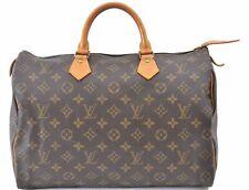 Authentic Louis Vuitton Monogram Speedy35 Hand Bag M41524 LV A9851