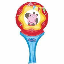 Peppa Pig Inflate a Fun Foil Hand Balloon Air Fill Birthday Party Bag Filler