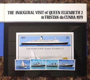 TRISTAN DA CUNHA 1979 QE2 Visit Signed by Family Pres Pack (£1.50 Each) SALE