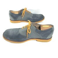 UGG Mens Sz 10 Gray Blue Yellow 1002479 Australian Oxfords Holston Lace-up Shoes