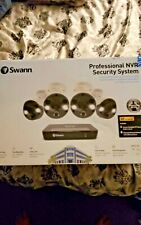 Swann 8 Channel 4 Camera Security System, PoE Wired Surveillance 4K Ultra Hd Nvr