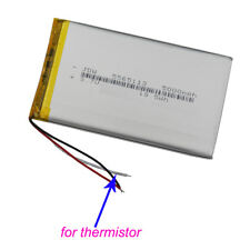 3.7V 5000mAh 3 wires Polymer Li ion battery thermistor 5565113 for Tablet PC GPS
