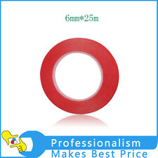 6 mm Width Strong Acrylic Adhesive Clear Double Sided tape Length : 25 Meters