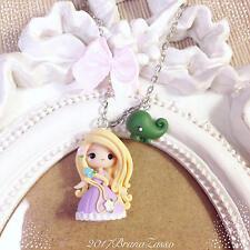 Collana Chibi Rapunzel Cute Disney Fimo Polymer Clay Kawaii tiny Princess Fiaba