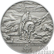 10th Crusade THE LAST CRUSADER Silver Coin 2017 Cook Islands Peter I Alexandrian