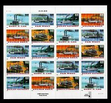 ALLY'S STAMPS US Plate Block Scott #3091-5 32c Riverboats 20 MNH [FP-10]