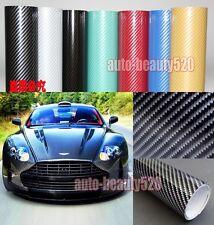 "12"" x 50"" High Glossy PVC Car 2D Carbon Fiber Texture Wrap Vinyl Sticker Decal"
