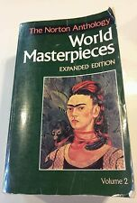 The Norton Anthology of World Masterpieces Vol. 2 by Patricia Meyer Spacks...