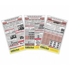 Osha Tire Service and Safety Chart 3-Poster Kit Tmrosha10R-11 Brand New!
