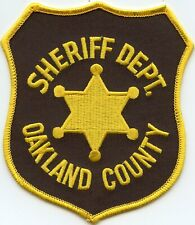 old style OAKLAND COUNTY MICHIGAN MI SHERIFF POLICE PATCH