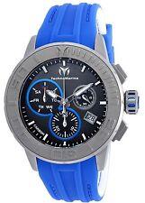 Technomarine TM-515003 Titanium / Reef Men's Blue/White Silicone 48mm Chrono