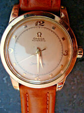 Vintage Omega Stainless Rose Gold Seamaster Mens Wristwatch 351 Movement Seviced