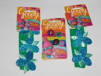 Trolls Hair Ties Poppy Ouchless Bands Sparkly Headwrap THREE Pks Goody Lot