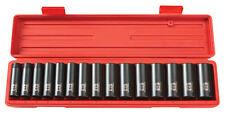 1/2 in. Drive Deep Impact Socket Set (10-24mm) 6pt TEKTON 4883 -no sizes missing