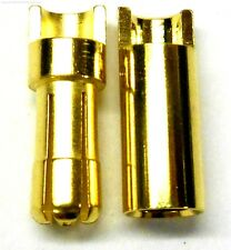C0552 RC Connector 5.5mm Gold Plated Male and Female Bullet Banana x 1 Set