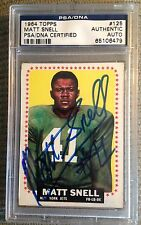 1964 Matt Snell Signed Rookie NYJets Auto PSA/DNA Centered #125 Ex-MT