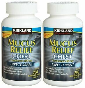 Kirkland Mucus Relief Chest Guaifenesin 400mg Expectorant 400 Tablets 07/2023