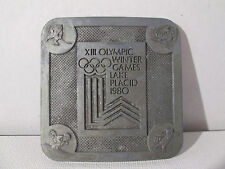 Beltbuckle X111 Olympic Winter Games Vintage Lake Placid 1980 Stamped/Detailed H