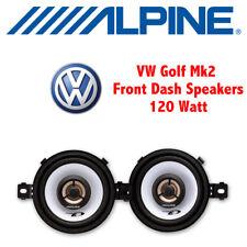 """Vw Golf Mk2 Ii 1983-1995 - 8cm de 3,5 """" 3-1/2 Pulgadas De adelante Dash oradores Upgrade Kit"""