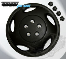 "Matte Black Style 941 15 Inches Hubcap Wheel Cover Rim Skin Covers 15"" Inch 4pcs"