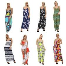 Ladies Women Camisole Strappy Sleeveless Printed soft touch Maxi Long Dress