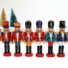 6Pcs Mini Casse-Noisette En Bois Poupée Soldat Ornements De Noël Cadeaux De YCS
