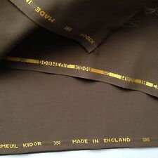 Dormeuil KIDOR Made in England Mohair and Wool  Brown  156cm x 360cm  Remnant