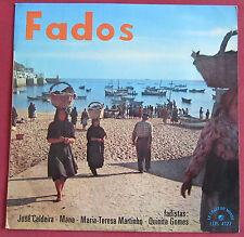 "FADOS  25 CM 10""  LP ORIG FR  JOSE CALDEIRA  MANA  LE CHANT DU MONDE"