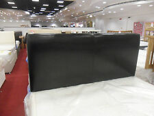 BRAND NEW. CANTERBURY PADDED BLACK LEATHER 5ft KING SIZE 150cm BED HEADBOARD