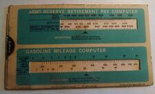 Vintage 1974 Us Army Reserve Payrule Chart Series Usar O/E