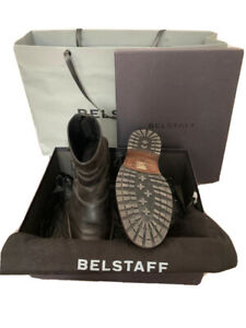 Belstaff Trialmaster Mens Black Leather Short Boot, Size EU41 / UK7