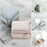 Womens Portable Travel Jewelry Box Organizer Jewellery Ornaments Case Storage