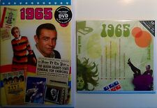 1965 - 52nd Birthday or Anniversary Gift Set - 1965 DVD Britpop CD and Card