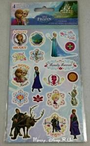 New Disney Frozen Die-Cut Stickers 4 Sheets Per Pack Elsa Anna Kristoff Olaf
