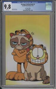 GRUMPY CAT/GARFIELD #3 - CGC 9.8 - STEVE UY VIRGIN VARIANT - RARE!! - 3781254004