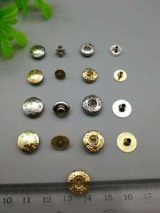 Metal Snap Fastener Popper Press Stud Rounded Rivet Buttons Sewing Leather DIY