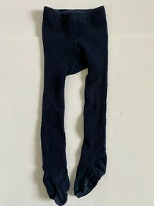 Baby GAP Girls Bear Graphic Cable Navy Tights 2 - 3 Years