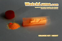 ORANGE LUME LUMINOUS PASTE KIT GLOW IN THE DARK DIY LUME FOR WATCH HANDS RELUME