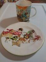 DOG COFFEE MUG & PLATE By Pier One Imports