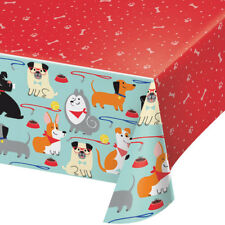 Puppy Dog Plastic Party Tablecover Dog Lover Birthday Party Puppy Tablecloth