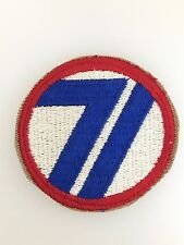 GENUINE America/American WWII U.S Army 71st Infantry Division cloth sleeve patch