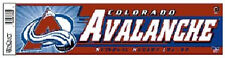 "12"" x 3"" Nhl® Hockey Colorado Avalanche Bumper Sticker - Support Your Team"