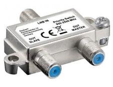 vorrang schalter 1x lnb auf 2x sat-receiver master slave verteiler umschalter