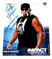 WWE TNA HULK HOGAN P-500 HAND SIGNED AUTOGRAPHED 8X10 PROMO PHOTO WITH PROOF COA